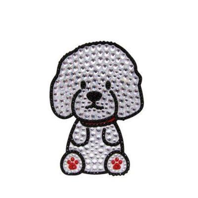 Bichon-Frise-Dog-Rhinestone-Glitter-Jewel-Phone-Ipod-Iphone-Sticker-Decal-181225900735