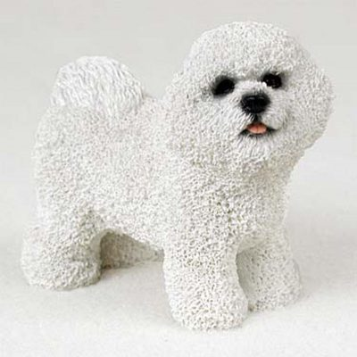 Bichon-Frise-Hand-Painted-Collectible-Dog-Figurine-Statue-181134288471