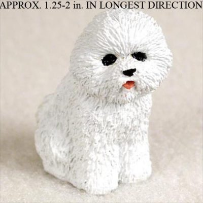 Bichon-Frise-Mini-Resin-Hand-Painted-Dog-Figurine-Statue-Hand-Painted-400220482660