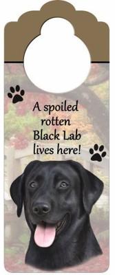 Black-Lab-Dog-Door-Knob-Handle-Hanger-Sign-Spoiled-Rotten-1025-x-4-400596318279