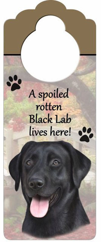 Black-Lab-Dog-Door-Knob-Handle-Hanger-Sign-Spoiled-Rotten-1025-x-4-400596318279
