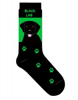 Black-Lab-Dog-Socks-Lightweight-Cotton-Crew-Stretch-Egyptian-Made-Green-400679622491