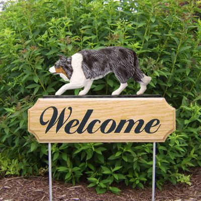 Border-Collie-Dog-Breed-Oak-Wood-Welcome-Outdoor-Yard-Sign-Blue-Merle-400706785091