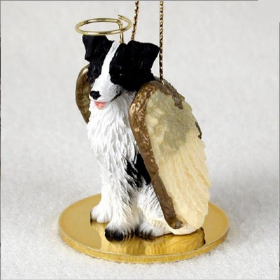 Border-Collie-Dog-Figurine-Ornament-Angel-Statue-Hand-Painted-400671438099