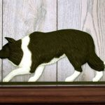 Border-Collie-Dog-Figurine-Sign-Plaque-Display-Wall-Decoration-Black-400721985514