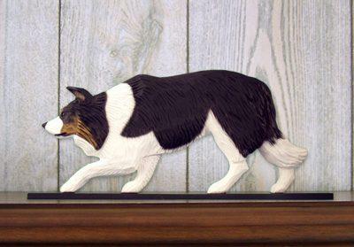 Border-Collie-Dog-Figurine-Sign-Plaque-Display-Wall-Decoration-Black-Tri-400721985964