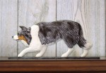Border-Collie-Dog-Figurine-Sign-Plaque-Display-Wall-Decoration-Blue-Merle-181430764513