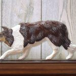 Border-Collie-Dog-Figurine-Sign-Plaque-Display-Wall-Decoration-Red-Merle-181430765337