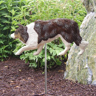 Border-Collie-Outdoor-Garden-Dog-Sign-Hand-Painted-Figure-Red-Merle-181369644970