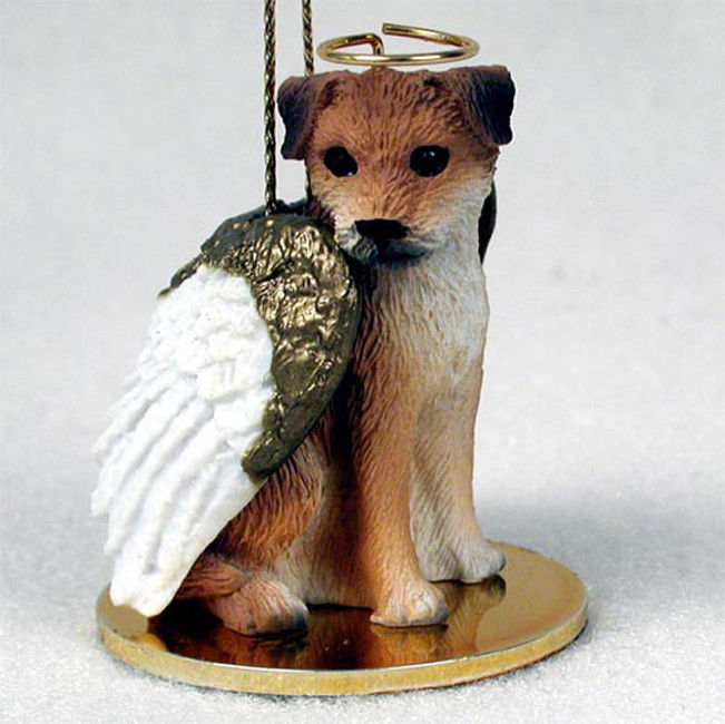 Border-Terrier-Statue-Dog-Figurine-Angel