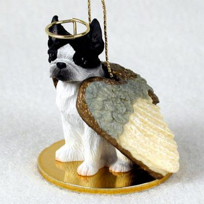 Boston Terrier Angel Statue Dog Figurine