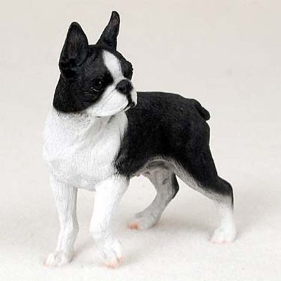 Boston-Terrier-Hand-Painted-Collectible-Dog-Figurine-180973407038