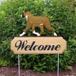 Boxer-Dog-Breed-Oak-Wood-Welcome-Outdoor-Yard-Sign-Fawn-400706786305
