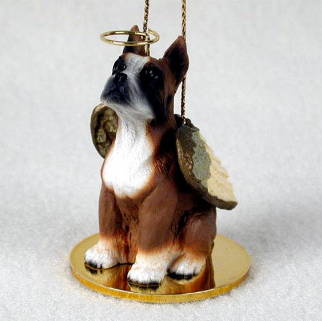 Boxer Dog Figurine Angel Statue -
