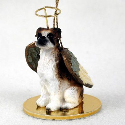 Boxer-Dog-Figurine-Angel-Statue-Hand-Painted-Brindle-Uncropped-400219965119
