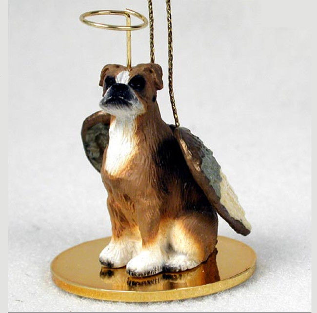 Boxer Dog Figurine Angel Statue Uncropped