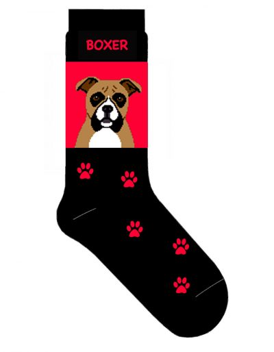 Boxer-Dog-Socks-Lightweight-Cotton-Crew-Stretch-Egyptian-Made-400679577159