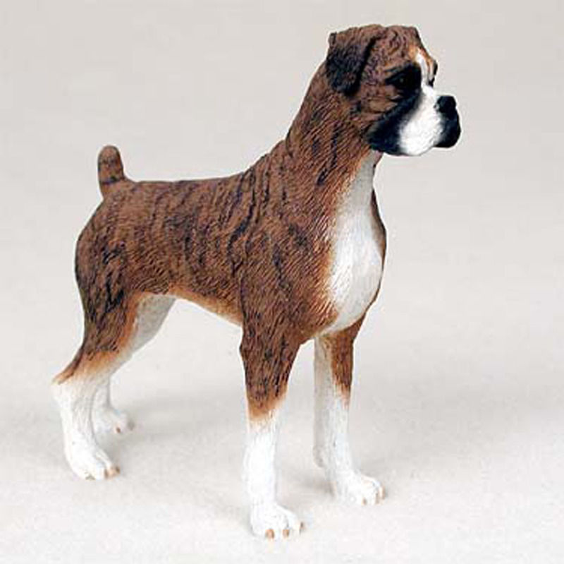 Boxer Figurine Hand Painted Collectible Statue Brindle