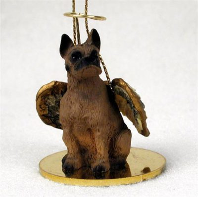 Boxer-Tawny-Dog-Figurine-Angel-Statue-Hand-Painted-180637633615