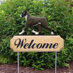 Boxer-Uncropped-Dog-Breed-Oak-Wood-Welcome-Outdoor-Yard-Sign-Brindle-400706786501