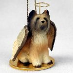 Briard-Dog-Figurine-Angel-Statue-Hand-Painted-180637633656