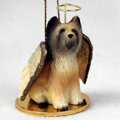 Briard-Dog-Figurine-Angel-Statue-Hand-Painted-180637633656