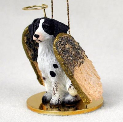 Brittany-Dog-Figurine-Angel-Statue-Hand-Painted-Liver-White-400201486918
