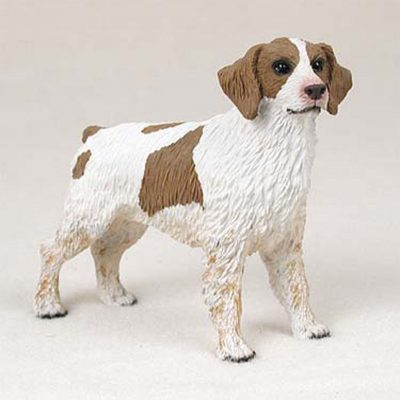 Brittany-Hand-Painted-Collectible-Dog-Figurine-Brown-White-180774500690