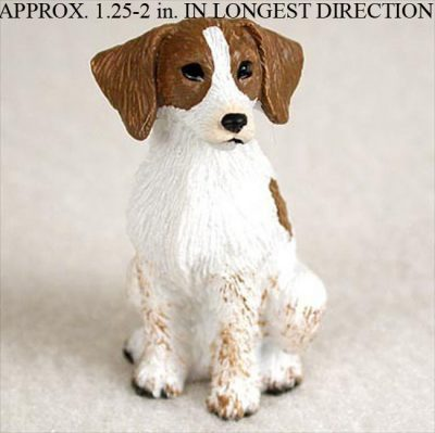 Brittany-Mini-Resin-Hand-Painted-Dog-Figurine-BrownWhite-180738715995