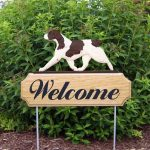 Brittany-Spaniel-Dog-Breed-Oak-Wood-Welcome-Outdoor-Yard-Sign-Liver-400706787233