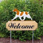 Brittany-Spaniel-Dog-Breed-Oak-Wood-Welcome-Outdoor-Yard-Sign-Orange-181404165009