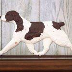 Brittany-Spaniel-Dog-Figurine-Sign-Plaque-Display-Wall-Decoration-Liver-181430769444