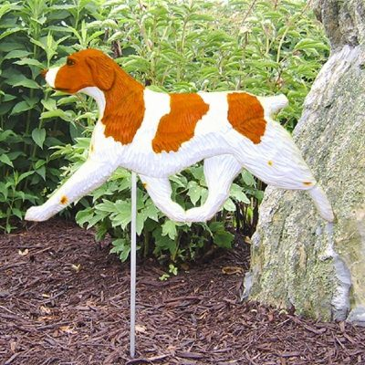 Brittany-Spaniel-Outdoor-Garden-Dog-Sign-Hand-Painted-Figure-Orange-400688299263