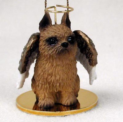 Brussels-Griffon-Dog-Figurine-Angel-Statue-Hand-Painted-Red-400201488867