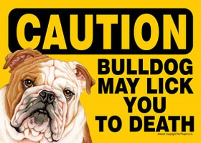 Bulldog-Caution-May-Lick-You-To-Death-Dog-Sign-Magnet-Velcro-5×7-181334099798