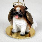 Bulldog Angel Statue Dog Figurine Hand Painted