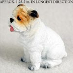 Bulldog-Mini-Resin-Dog-Figurine-Statue-Hand-Painted-White-400205070088