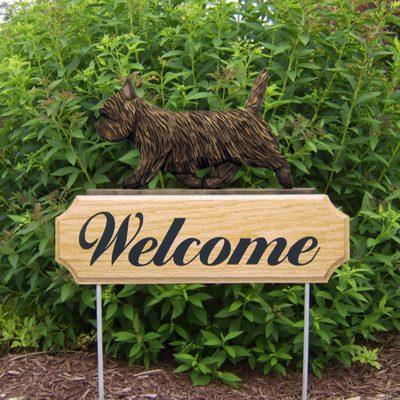 Cairn-Terrier-Dog-Breed-Oak-Wood-Welcome-Outdoor-Yard-Sign-Black-Brindle-400706787910