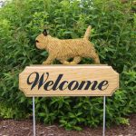 Cairn-Terrier-Dog-Breed-Oak-Wood-Welcome-Outdoor-Yard-Sign-Wheaten-181404166976