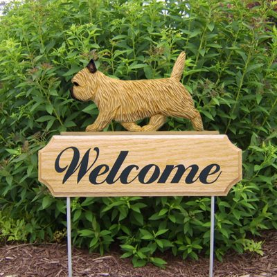 Cairn-Terrier-Dog-Breed-Oak-Wood-Welcome-Outdoor-Yard-Sign-Wheaten-181404166976
