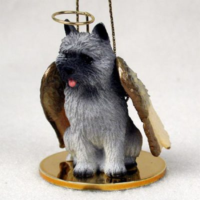 Cairn-Terrier-Dog-Figurine-Angel-Statue-Gray-400250978254