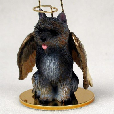 Cairn-Terrier-Dog-Figurine-Angel-Statue-Hand-Painted-Brindle-400589498837