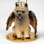 Cairn-Terrier-Dog-Figurine-Ornament-Angel-Statue-Hand-Painted-Red-400288207021