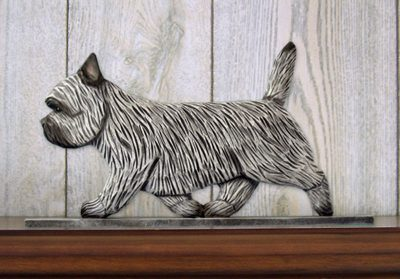 Cairn-Terrier-Dog-Figurine-Sign-Plaque-Display-Wall-Decoration-Light-Grey-400721988187