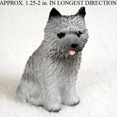 Cairn-Terrier-Mini-Resin-Dog-Figurine-Gray-180644347456