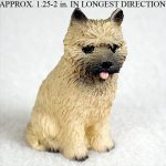 Cairn-Terrier-Mini-Resin-Hand-Painted-Dog-Figurine-Statue-Red-400322897217