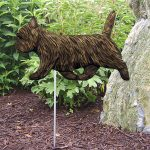 Cairn-Terrier-Outdoor-Garden-Dog-Sign-Hand-Painted-Figure-Black-Brindle-181369648070