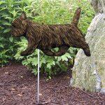 Cairn-Terrier-Outdoor-Garden-Dog-Sign-Hand-Painted-Figure-Black-Brindle-181369648070