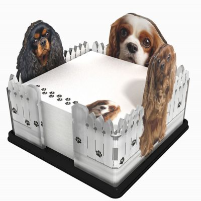 Cavalier-King-Charles-Dog-Breed-Acrylic-Note-Holder-Memo-Note-Pad-Made-in-USA-400458591417