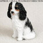 Cavalier-King-Charles-Mini-Resin-Dog-Figurine-Statue-Hand-Painted-BlackWhite-181136201572
